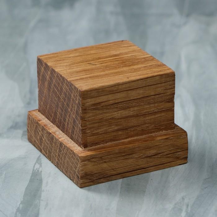 Подставка-подиум деревянная, 40 х 40 х 30 мм, массив дуба