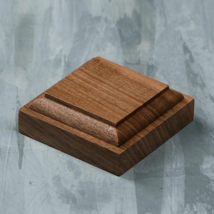 Подставка-подиум, 5 × 5 см, массив ореха