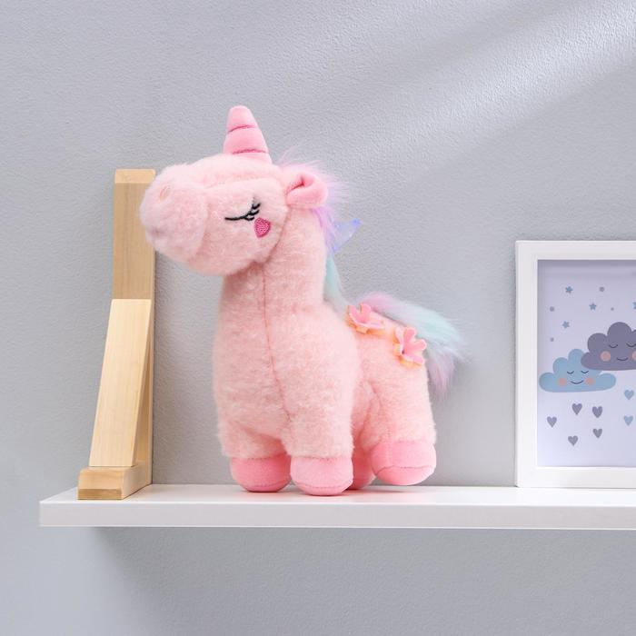 Мягкая игрушка «Единорог с цветами», цвета МИКС - фото 4469935