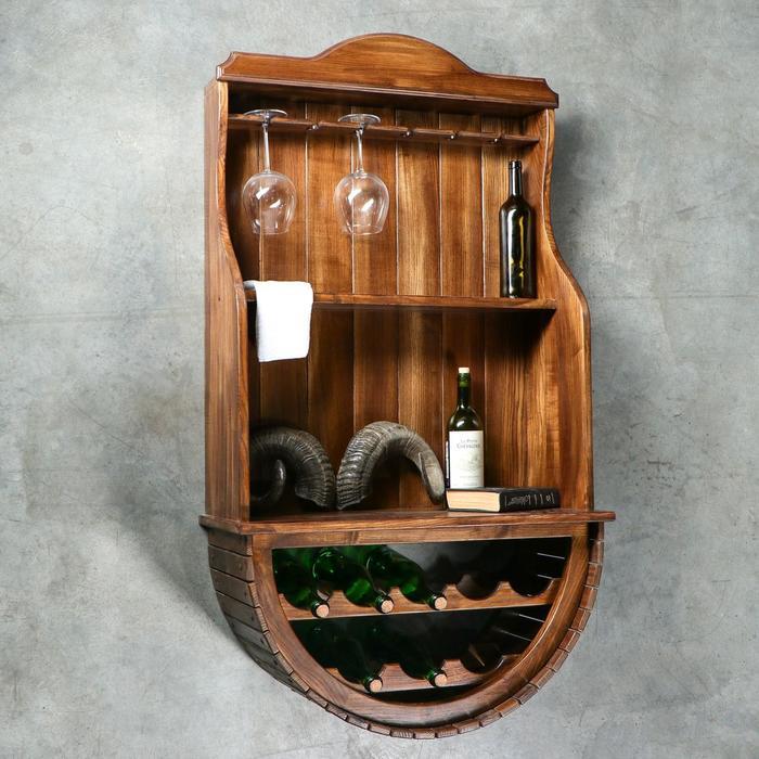"""Мини-бар деревянный """"Ретро-классик"""", 135 х 75 х 32 см, массив ясеня"""