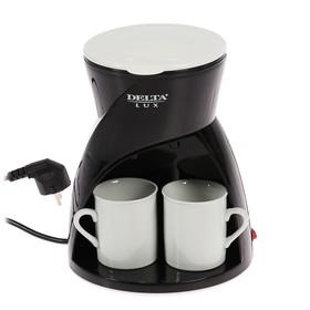 Кофеварка DELTA LUX DL-8131, капельная, 450 Вт, 0.3 л, чёрная