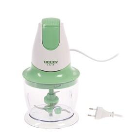 Измельчитель DELTA LUX DL-7417, пластик, 300 Вт, 0.75 л, бело-зеленый