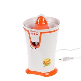 Соковыжималка Sakura SA-6510A, для цитрусовых, 40 Вт, 0.2 л, бело-оранжевая
