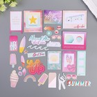 Набор высечек с золотым фольгированием Pink Paislee, «SUMMER LIGHTS» 40 шт