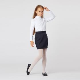 Школьная юбка футляр, цвет тёмно-синий, рост 170 (L)