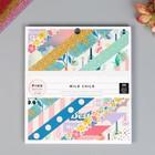Набор бумаги для скрапбукинга Pink Paislee, коллекция «WILD CHILD. GIRL» 15.2х15.2 см