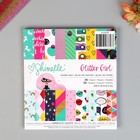 Набор бумаги для скрапбукинга SHIMELLE «GLITTER GIRL» , 15x15 см (36 листов)