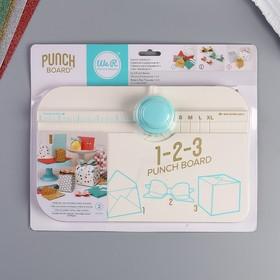 Доска для создания коробок, конвертов и бантиков WRMK, «1-2-3 PUNCH BOARD»