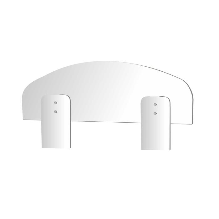 Универсальное ограждение для кровати, 700 × 16 × 220 мм, цвет белый