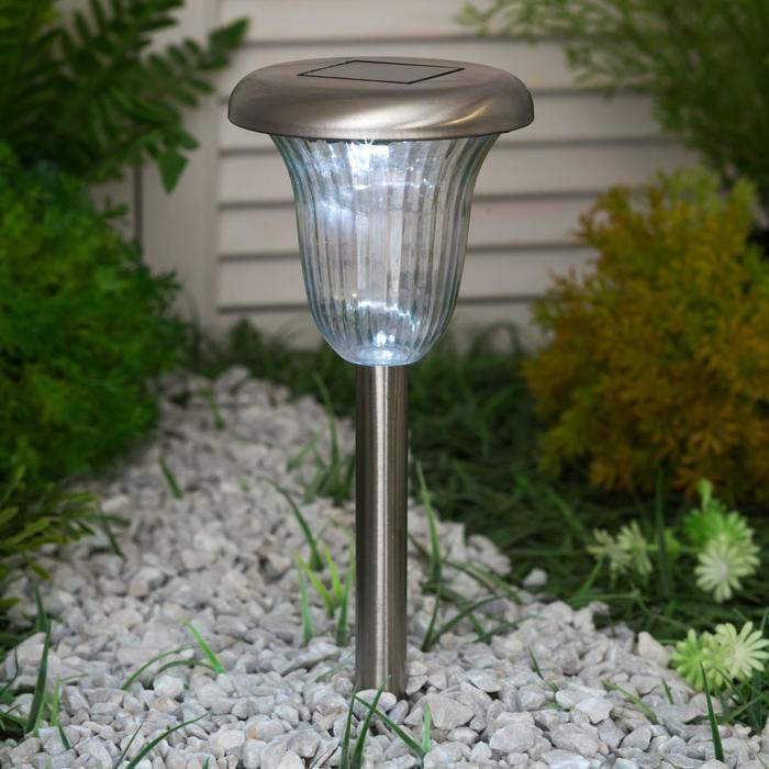 Светильник садовый на солнечных батареях TDM СС-320, сталь, белый