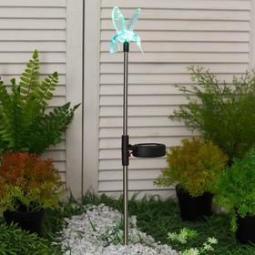 """Светильник садовый на солнечных батареях TDM СС """"Колибри"""", сталь, меняет цвет"""