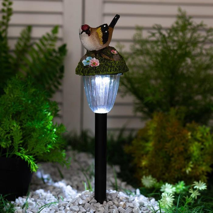 """Светильник садовый на солнечных батареях TDM СП """"Птицы"""", пластик, меняет цвет,в ассортименте   44440"""