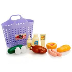 Игровой набор «Продуктовая корзинка» 12 предметов, цвета МИКС