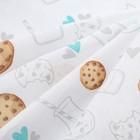 """Пеленка """"Крошка Я"""" Milk&Cookie 70*120 см, бязь, хлопок 100% - фото 7446860"""