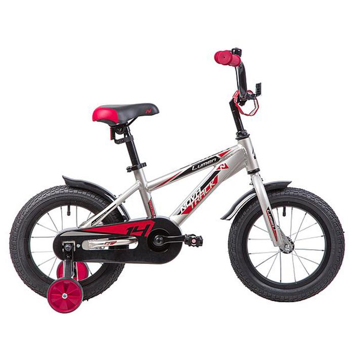 """Велосипед 14"""" Novatrack Lumen, цвет серебристый"""