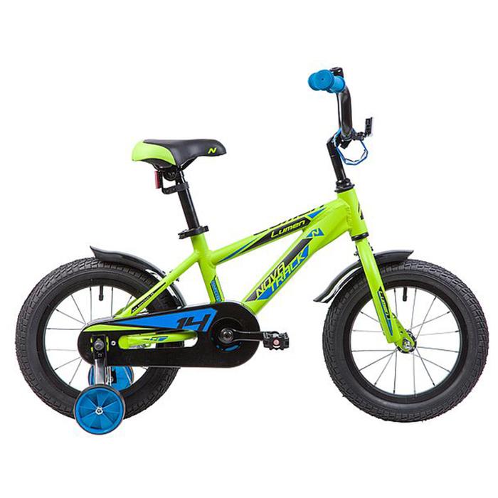 """Велосипед 14"""" Novatrack Lumen, цвет зеленый"""