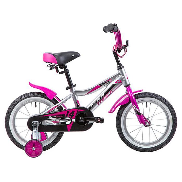 """Велосипед 14"""" Novatrack Novara, цвет серебристый"""