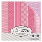 Набор принтованного кардстока Core'dinations - «Light pink», 60 листов, 30.5х30.5 см