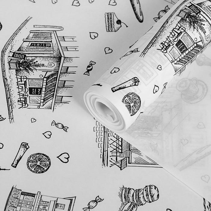 """Бумага упаковочная крафт """"Вкус Парижа"""", 0,72 х 10 м, 40 гр/м2"""