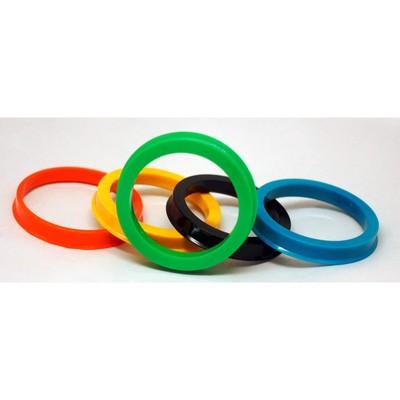 Пластиковое центровочное кольцо ВЕКТОР 64,1-54,1, цвет МИКС