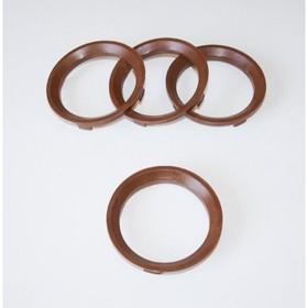 Пластиковое центровочное кольцо К&К 67,1-58,1 коричневые Ош