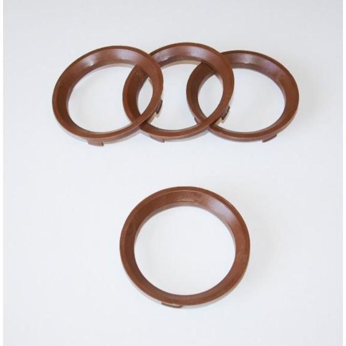 Пластиковое центровочное кольцо К&К 67,1-58,1 коричневые