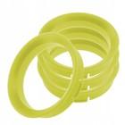 Пластиковое центровочное кольцо К&К 67,1-63,4 желтые