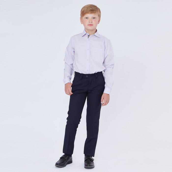 Брюки для мальчика, зауженные с заниженной посадкой, т-синий, рост 134 (34/S) - фото 105491787