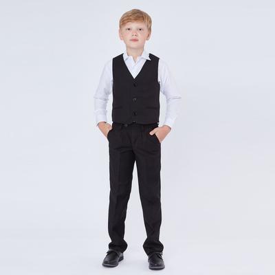 Брюки для мальчика, зауженные с заниженной посадкой, черный, рост 146 (36/M)