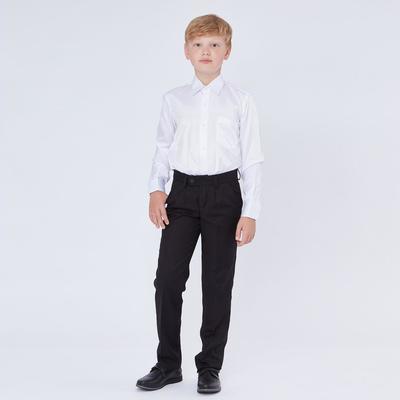 Брюки для мальчика, прямые с посадкой на талии, черный, рост 134 (34/S)
