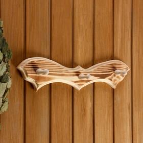 "Вешалка ""Летучая мышь"", обожжённая, 3 крючка, 30,5×10×5 см"