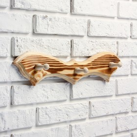 """Вешалка """"Летучая мышь"""", обожжённая, 3 крючка, 30,5×10×5 см - фото 4641809"""