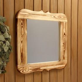 Зеркало резное, обожжённое, 50×50 см