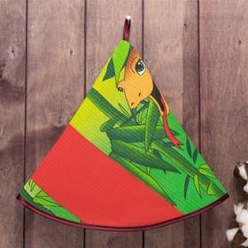 Полотенце вафельное круглое Джунгли  65х65 см, 160 г/м2, хлопок 100%