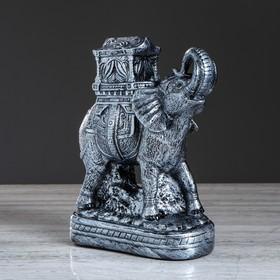 """Статуэтка """"Слон с седлом"""" цвет серебристый, 37 см, микс в Донецке"""