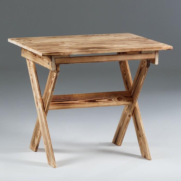 Стол малый, складной, обожжённый, 80×80×70 см