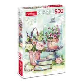 Пазл «Акварельные букеты», 500 элементов