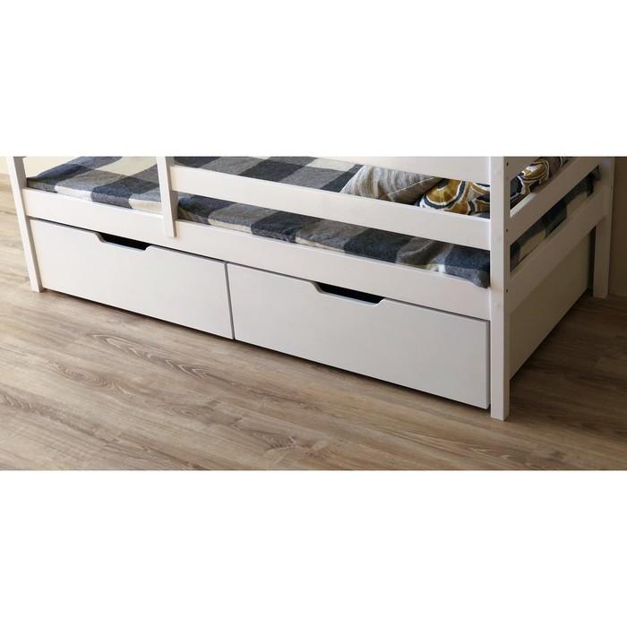 Ящики выкатные №1, 2 шт, к кроватке-домику 140х70 см, цвет белый