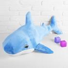 Soft toy Shark, color blue, 100х64 cm