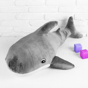 Soft toy Shark, gray color, 100x64 cm