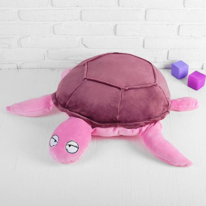 Мягкая игрушка Черепаха, цвет бордовый, 62х83 см