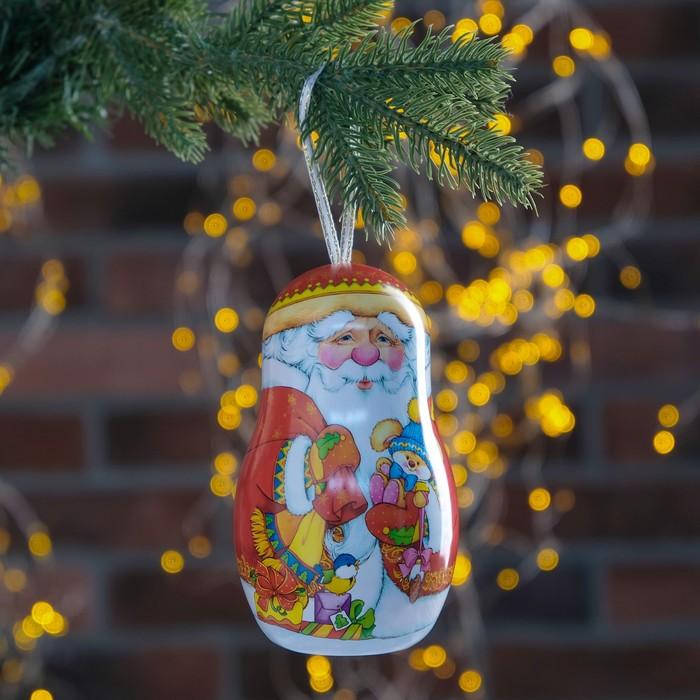 """Подарочная коробка """"Дед Мороз"""", матрешка, 7,6 х 7,6 х 13 см"""