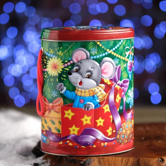 "Подарочная коробка ""Снежок"", овал, 12,2 х 9 х 15,5 см"
