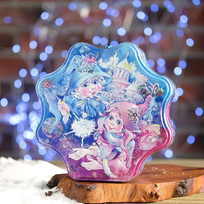 "Подарочная коробка ""Волшебный бал"", звезда, 20,6 х 20,6 х 6 см"