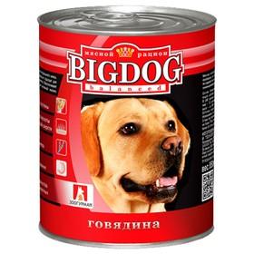 Влажный корм BIG DOG для собак, говядина, ж/б, 850 г