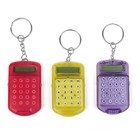 Calculator keychain with lid, 8-bit, toned, MIX