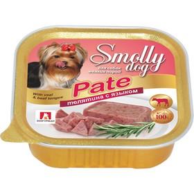 """Влажный корм """"Зоогурман"""" Смолли Дог для собак мелких пород, патэ телятина/язык, ламистер, 100 г"""