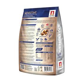 Сухой корм Sensitive для собак, гипоаллергенный, ягнёнок/рисом, 1.2 кг