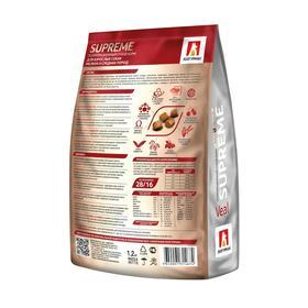 Сухой корм Supreme для собак, телятина, 1.2 кг Ош