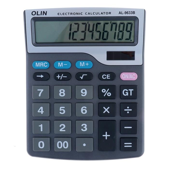 Калькулятор настольный 12-разрядный CH-9633В двойное питание
